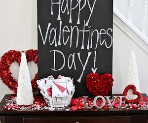 love, decor, and red image