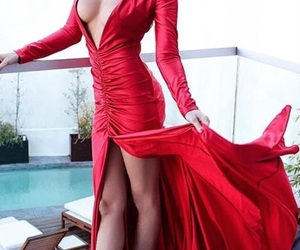 woman in red image