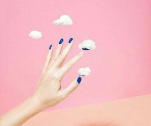 pink, clouds, and nails image