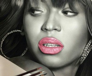 art, drawing, and yonce image