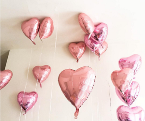 baloons, valentine, and hearts image