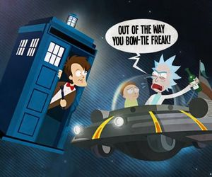 doctor who, 11th doctor, and rick and morty image