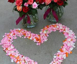 heart, roses, and love image