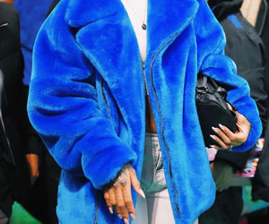 rihanna, blue, and outfit image