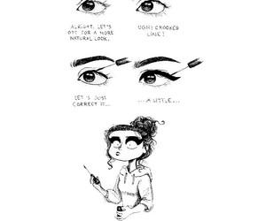 girl, eye, and eyeliner image