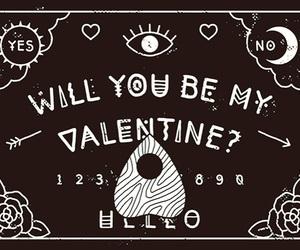 ouija, ouija board, and valentine image