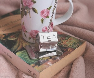 book, tea, and melinwonderland image