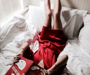 theme, girl, and red image