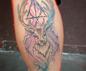 harry potter, tatoo, and relíquias da morte image