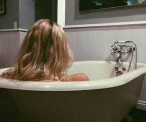 blonde and bath image