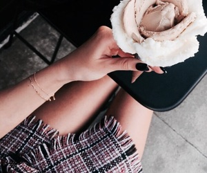 fashion, ice cream, and girl image