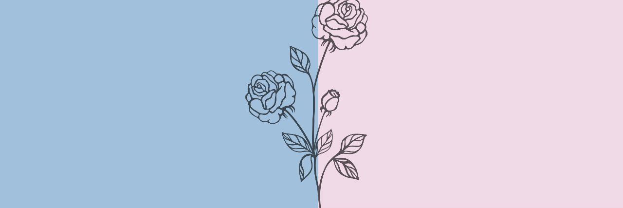 header, blue, and pink image