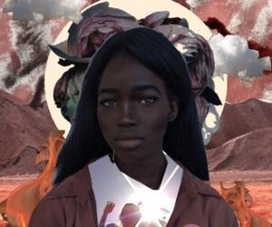 art, vibes, and dark skin image