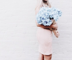 blonde, blue, and dusty pink image