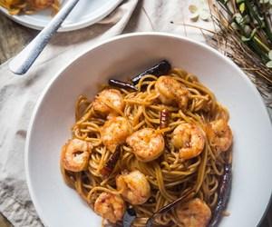 food, noodle, and shrimp image