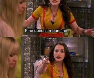 fine, 2 broke girls, and funny image