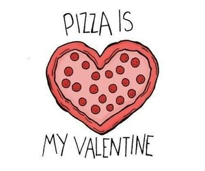 pizza, valentine, and love image
