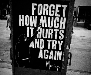 quote, forget, and hurt image