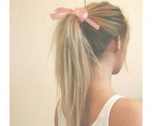 blonde, girl, and pink image
