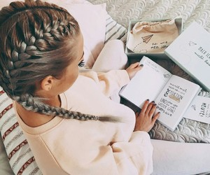 fashion, braid, and hair image