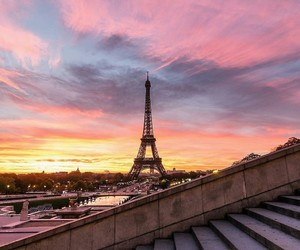 paris, sunset, and photography image