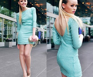 beautiful, blond, and blue image