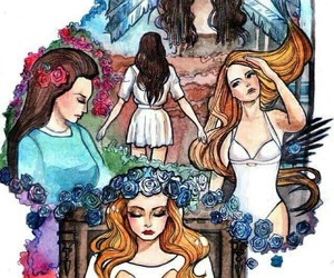 lana del rey, art, and blue jeans image