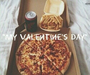 pizza, food, and valentine image