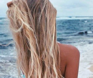 blonde, sea, and tan image