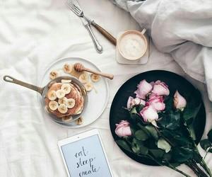 coffee, flowers, and breakfast image