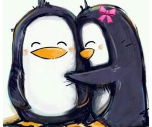 love, penguin, and hug image