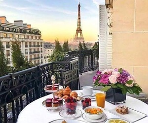 paris, breakfast, and france image