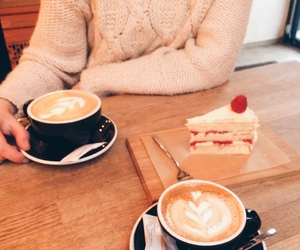 cake, coffee, and cozy image