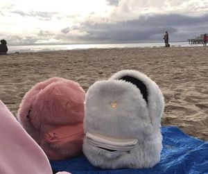 beach, pink, and bag image