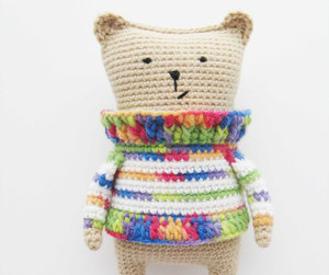 etsy, crochet pattern, and amigurumi bear image