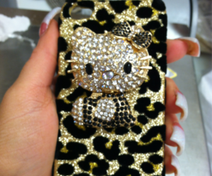 hello kitty, iphone, and girly image