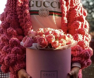 fashion, flowers, and gucci image
