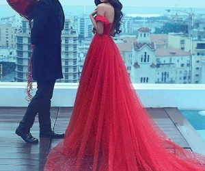 love, dress, and red image