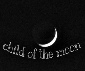 child, dark, and moon image