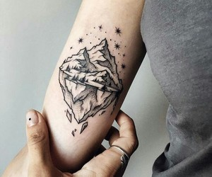 tattoo, mountains, and iceberg image