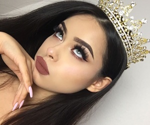 girl, makeup, and Queen image