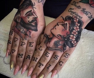 tattoo, nails, and art image