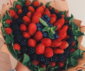 blackberry, strawberry, and bouqet image