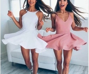 best friends, dresses, and fashion image