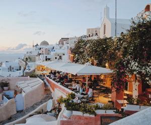 santorini, travel, and wanderlust image