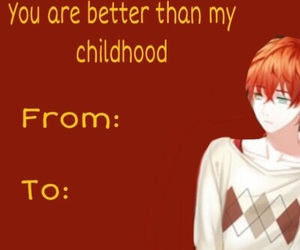 Mc, valentines day, and mystic messenger image