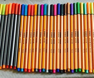 colors, pens, and rotuladores image