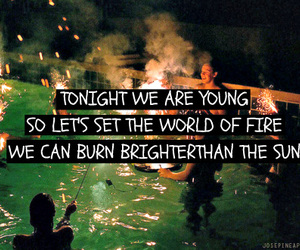 young, fire, and fun image