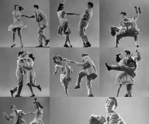 dance, rockabilly, and 50's image
