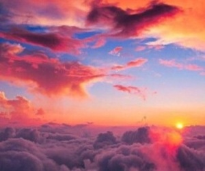 beautiful, pretty, and clouds image